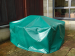 Green Furniture Cover - 2420mm x 780mm x 960mm